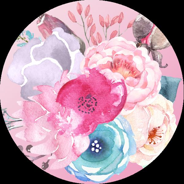 Színes, pasztell virágcsokor a Nyári évszaktípus hangulatában