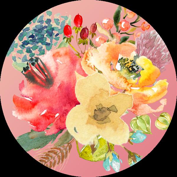 Színes virágcsokor az Őszi évszaktípus hangulatában