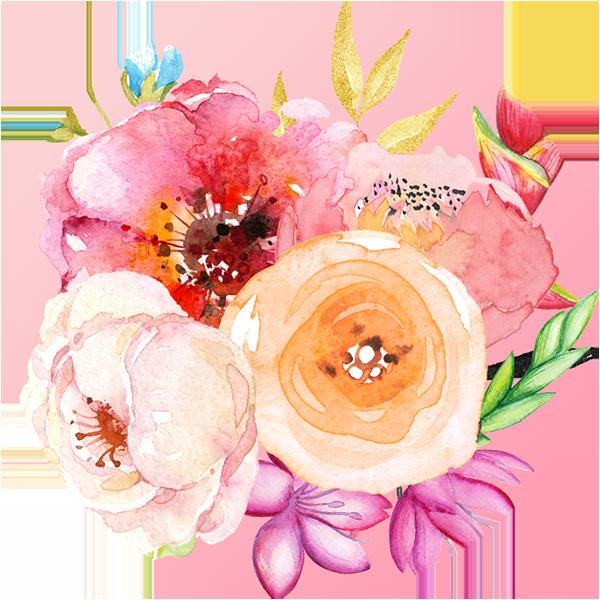 Színes virágcsokor a Tavaszi évszaktípus hangulatában