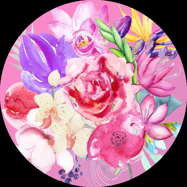 Színes, élénk virágcsokor a Téli évszaktípus hangulatában