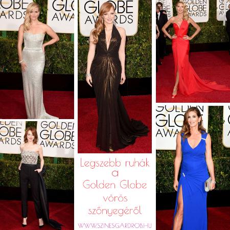 a legszebb ruhák a 2015-ös Golden Globe gáláról